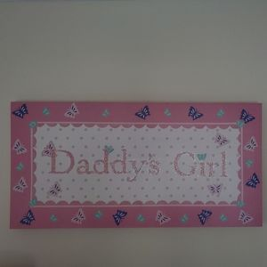 Daddy's girl canvas
